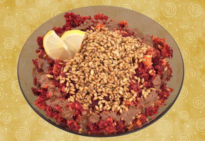 Здрав живот - Салата от моркови, червено цвекло, лимец и сусамов тахан
