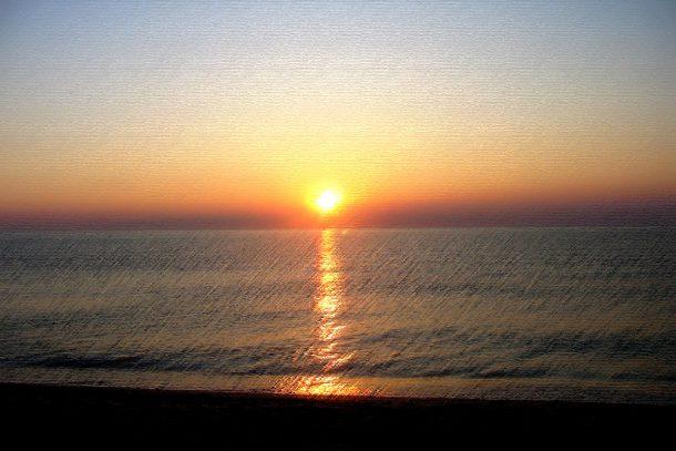 Картината на изгряващото Слънце