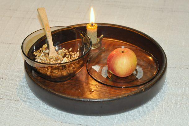 Лимец с орехи и ябълка