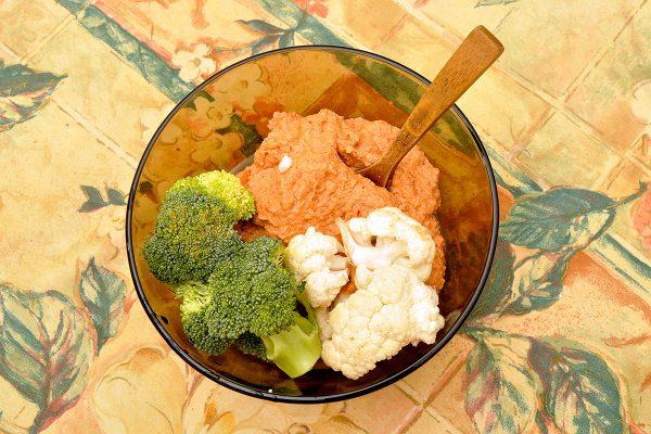 зеленчуци с прясна лютеница