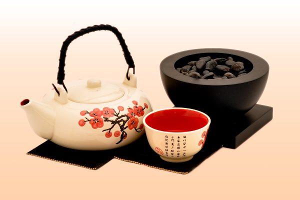 японски чайник и чаша