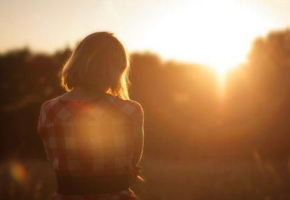 Слънце и момиче