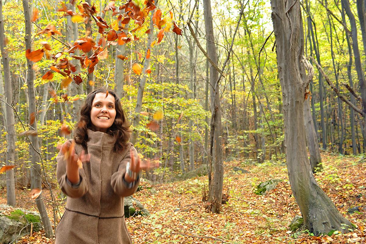 есен в гората