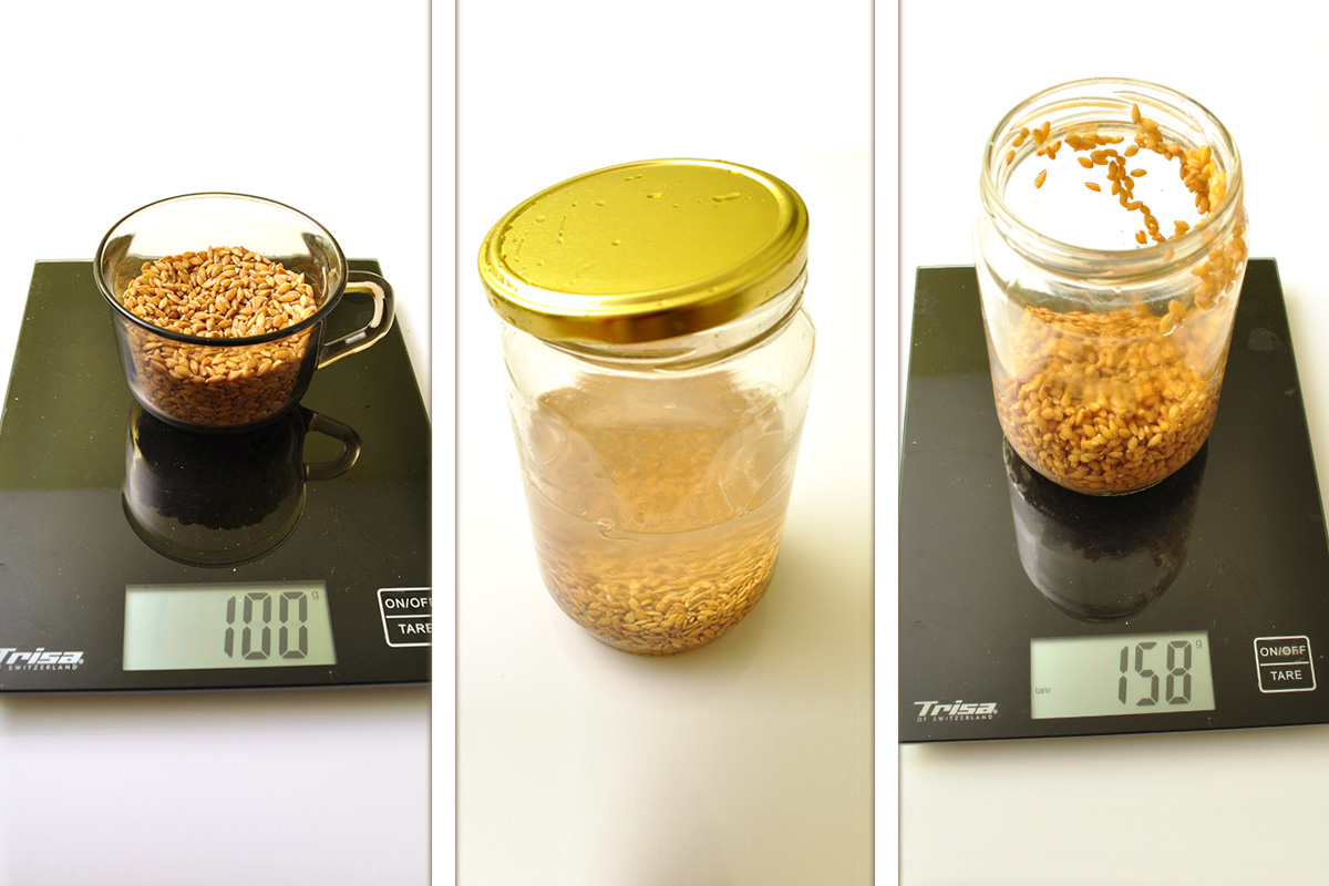 сравнение на сух и накиснат лимец