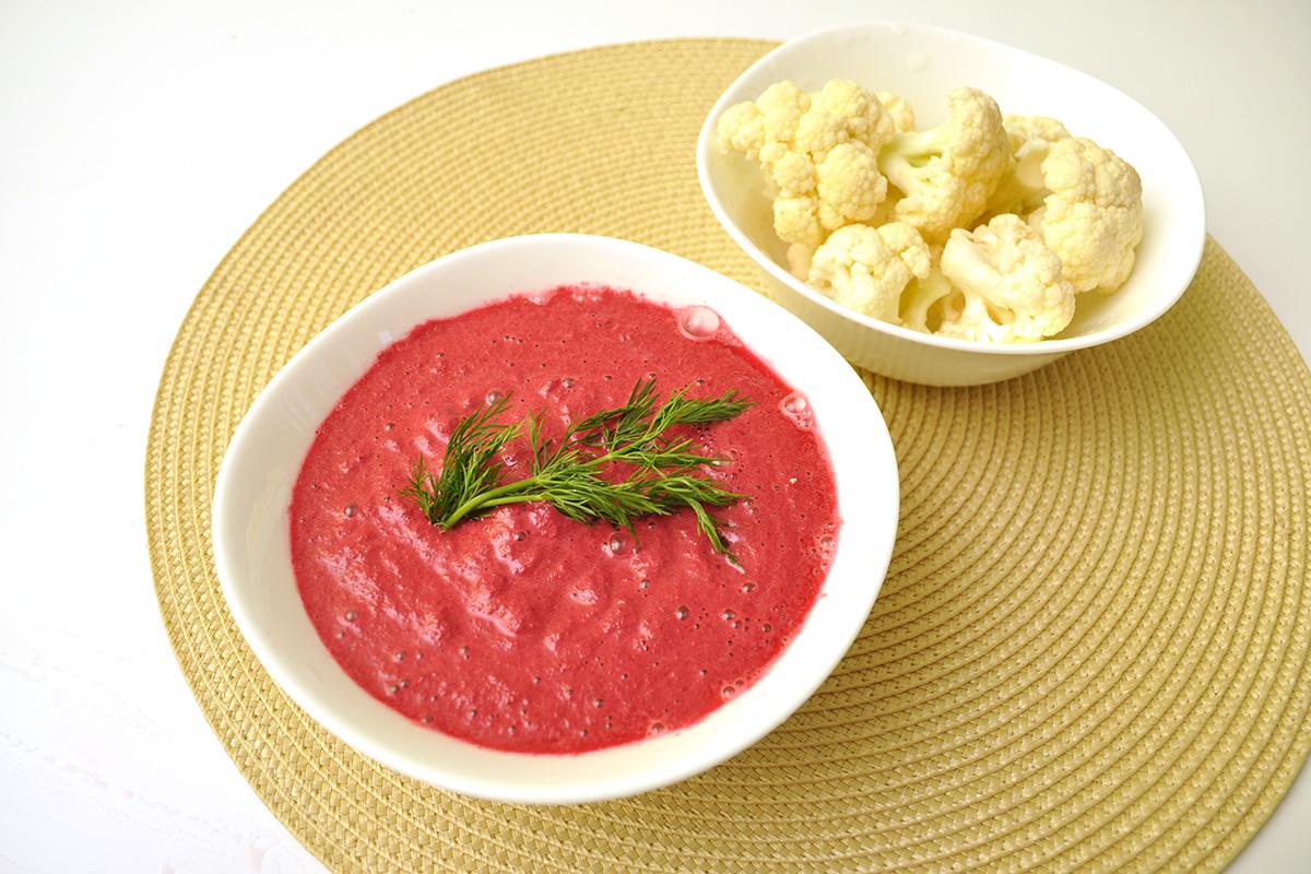 сос от лимец и червено цвекло с карфиол