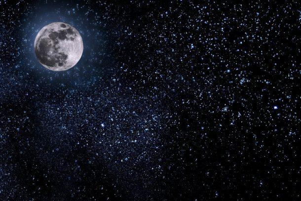 Moon-and-sky