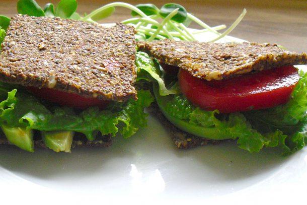 Сурови веган безглутенови сандвичи