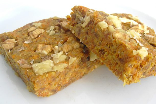 Сурови тиквени кексчета с орехи