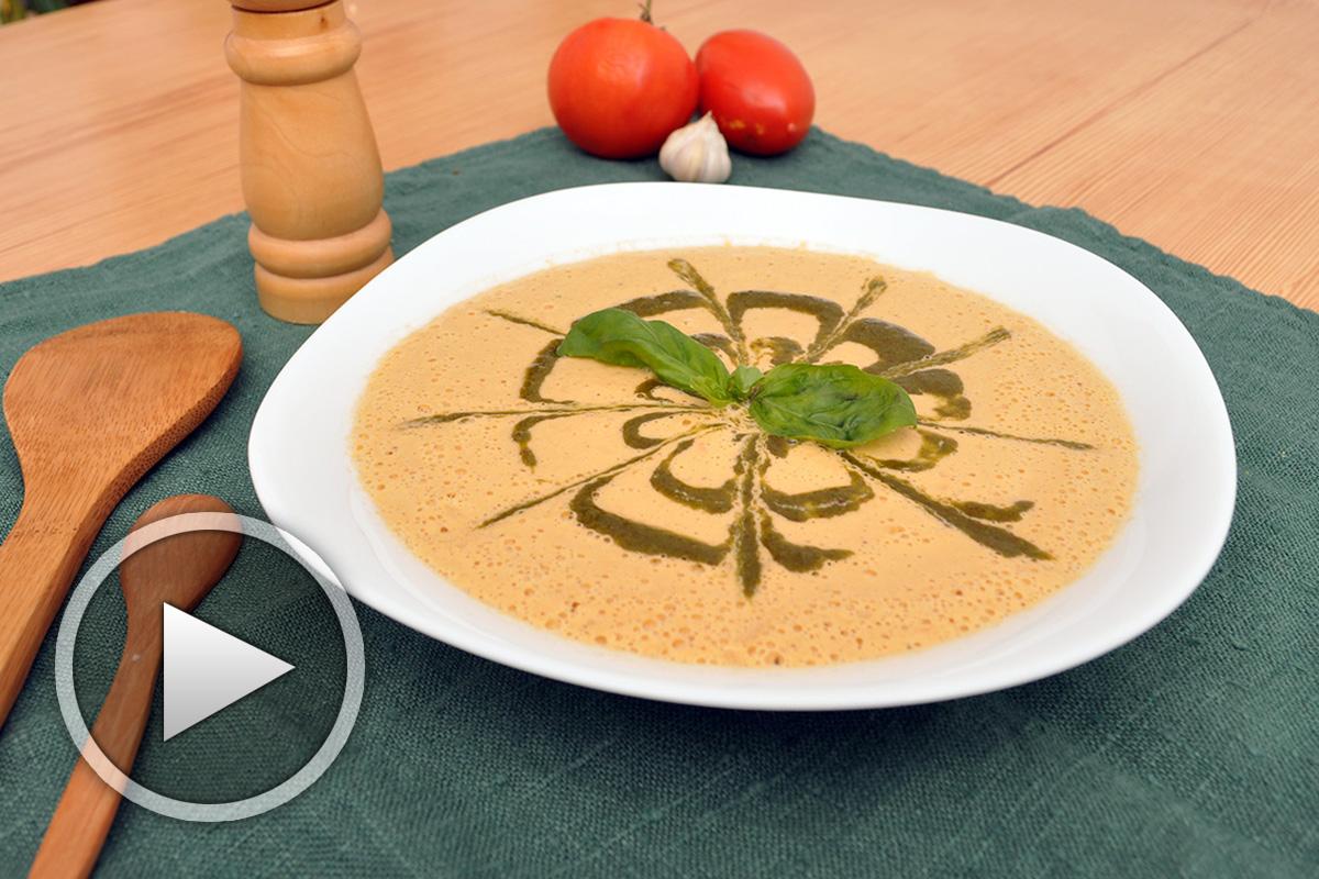 Доматеница - рецепта за сурова супа от менюто на ресторант Soma