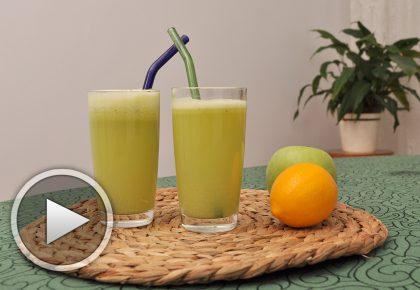 Сок от ябълки, лимон и джинджифил