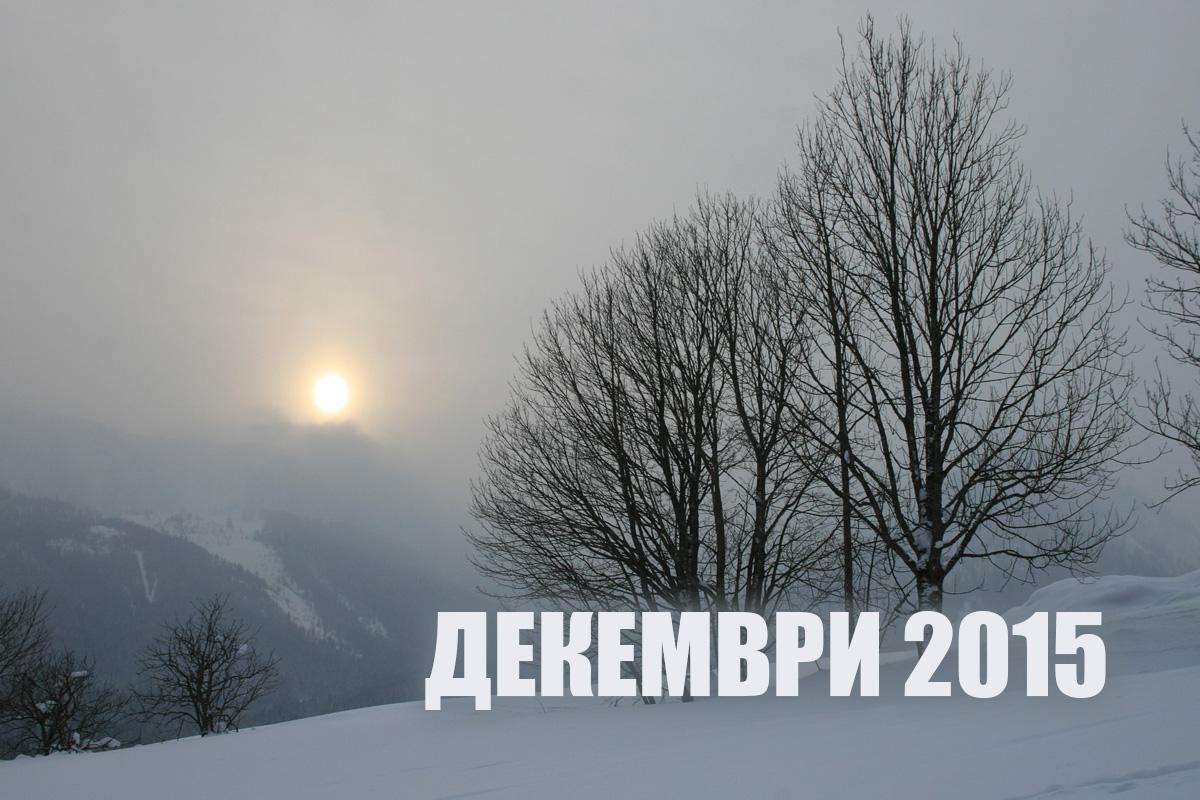 Най-четените статии през декември 2015 г.