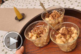 Десерт с банани и лешников тахан