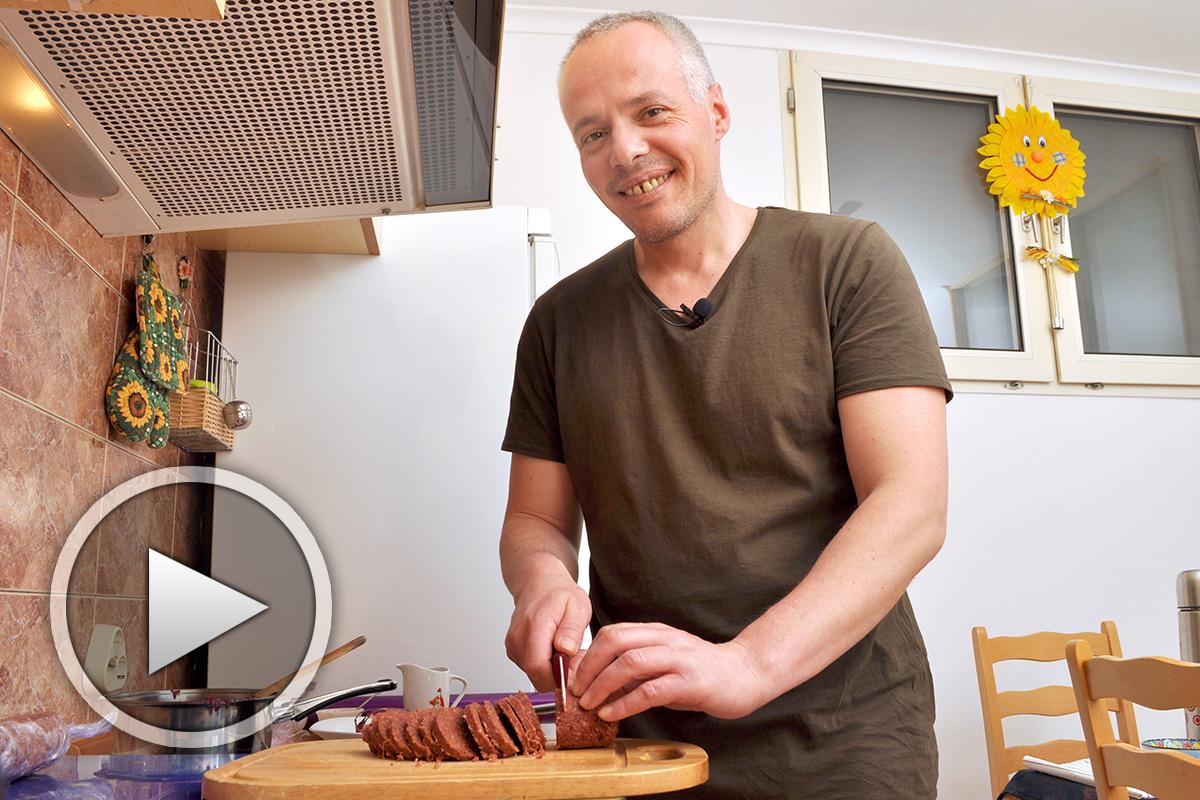 Грахов веган салам - видео рецепта