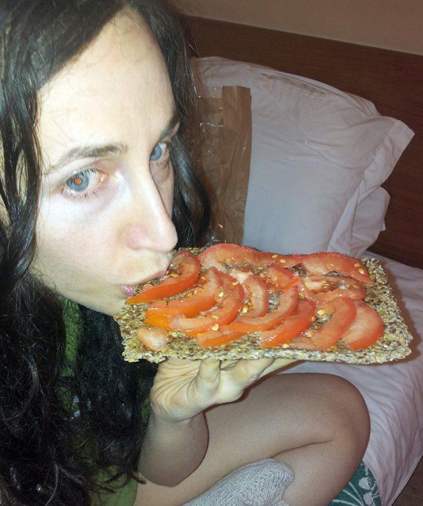 Суров крекер със зеленчуци