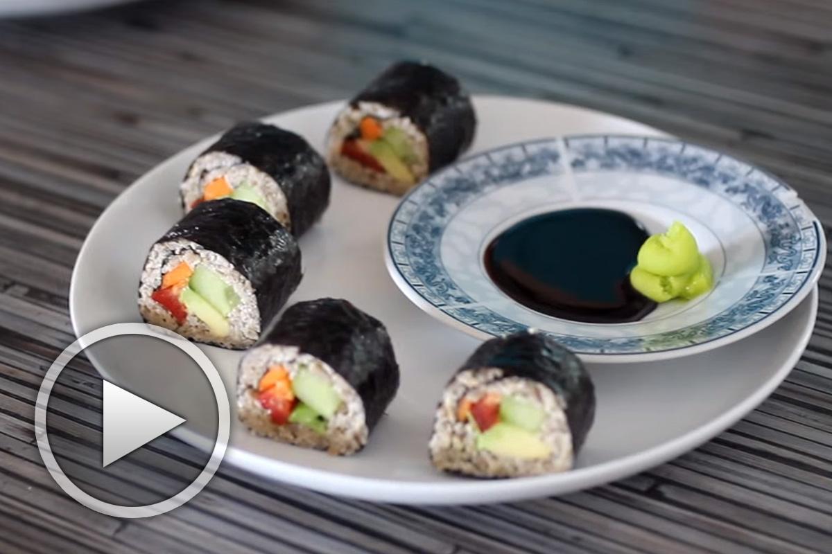 Рецепта за сурово веган суши с Михаела Белорешка
