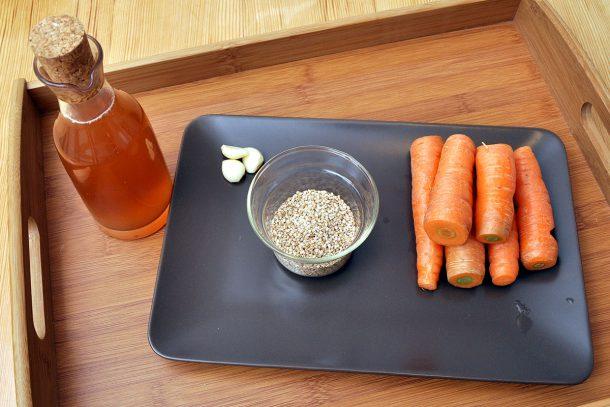 Зеленчуков пастет от моркови и сусам