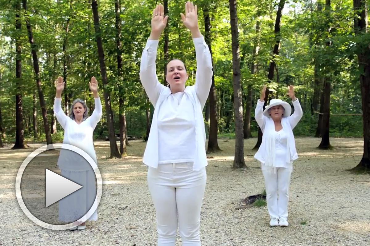 Песен на Светлия път - видео с песен движения