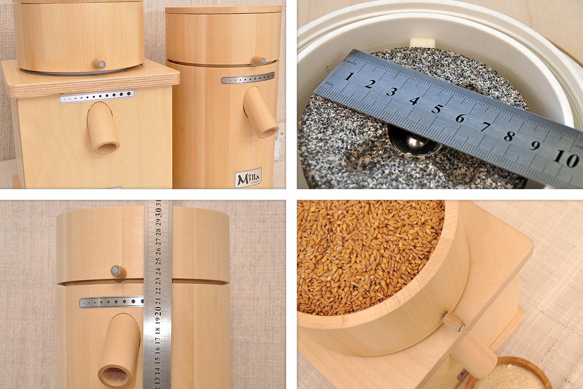 Сравнение между каменни мелници за зърно Milla